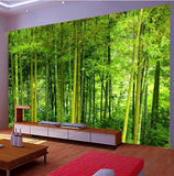 mural bamboo forest trees