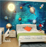 cartoon planets wall mural
