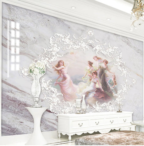elegant ladies marble wallpaper