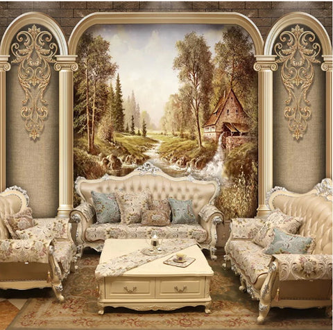 ornate euro style wallpaper