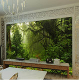 primeval forest wall mural