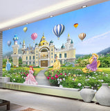wall mural cartoon princess castle