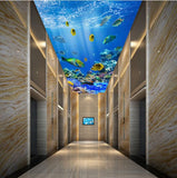 tropical fish wallpaper for ceiling