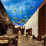 tropical fish ceiling mural