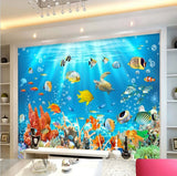 3d coral fish wallpaper