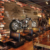 retro motorcycle wall mural