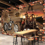 mural retro motorcycle