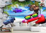 wall mural cars cartoon