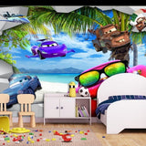 cars cartoon wall mural