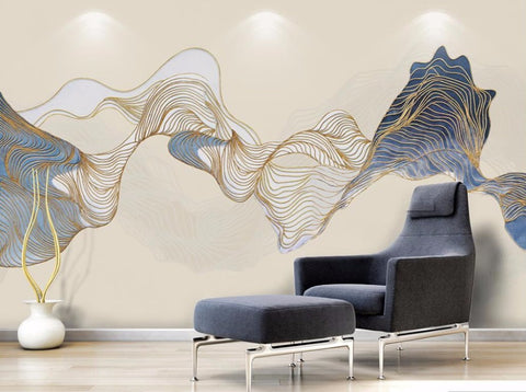 abstract ink painting mural