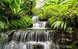 tropical waterfall wallpaper mural