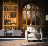 bookcase library wallpaper