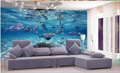 3D Underwater scene wallpaper