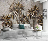 coconut tree wall mural
