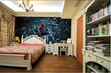 3d spiderman superhero wall mural