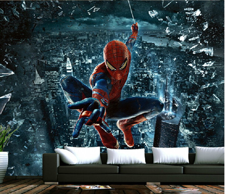 3d Wallpaper Spiderman Superhero Wall Mural