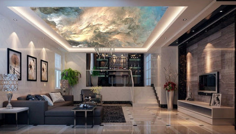 fantasy cloud ceiling mural