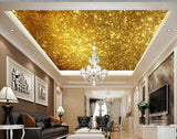 golden glitter ceiling wall mural