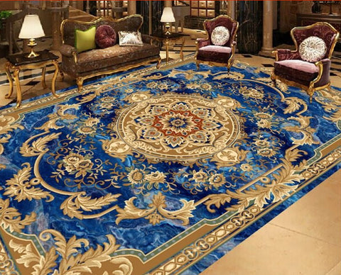 European carpet floor mural