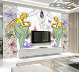 bejeweled angels wall mural