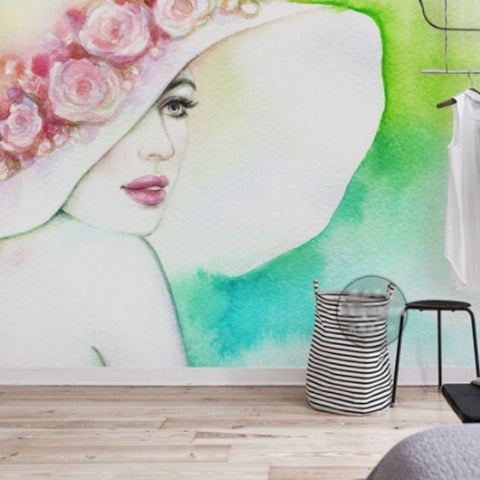 painted beauty wall mural