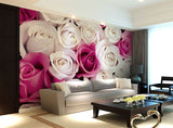 fuchsia roses wallpaper
