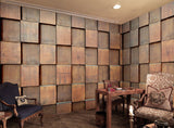 brown wood squares wallpaper