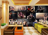 fitness club mural