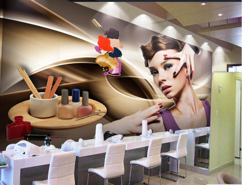 manicure tools mural