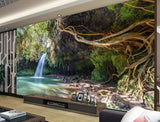 forest alcove mural