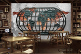mural world map