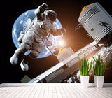 3d wallpaper spacecraft universe astronaut
