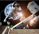 3d Wallpaper Astronaut Spacecraft Wall Mural