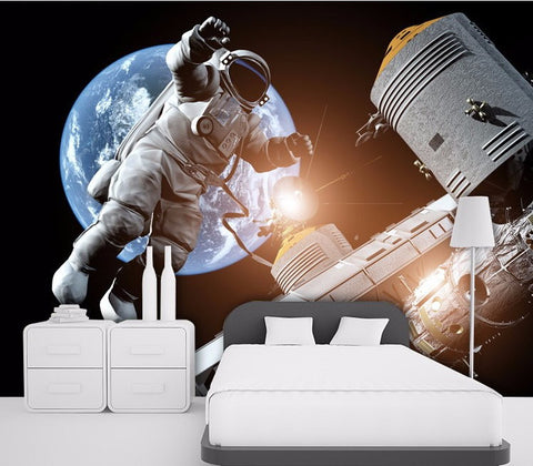 wallpaper 3d astronaut spacecraft wall mural