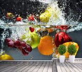 STYLISH Dessert Fresh Fruit Wallpaper Wall Mural
