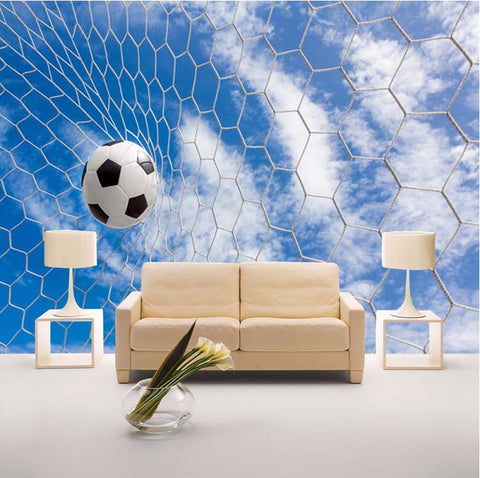 wallpaper themes 3d soccer mural