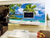 3d tropical beach wall mural wallpaper