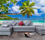 3D Tropical Beach wallpaper mural