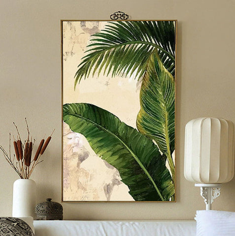 banana leaf wall mural