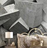 large cement blocks wall mural