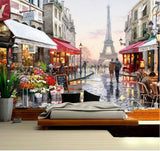 eiffel tower oil painting wall mural