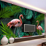 pink flamingo wall mural