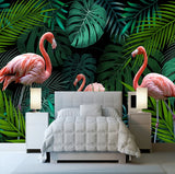 pink flamingo wall paper