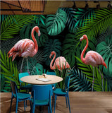 wallpaper pink flamingos