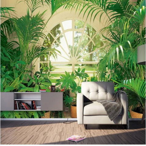 plants sunroom wallpaper