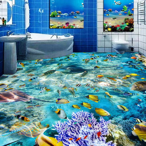 marine life floor wallpaper