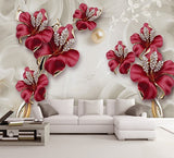 floral jewelry wall mural