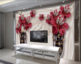 wall mural jewelry flowers