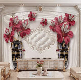 wall mural diamonds flowers