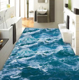 sea waves floor wallpaper